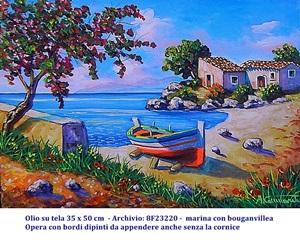 quadri paesaggi, marina barche, dipinti, faro, olio su tela, papaveri, ginestre,arte, pittura ad olio