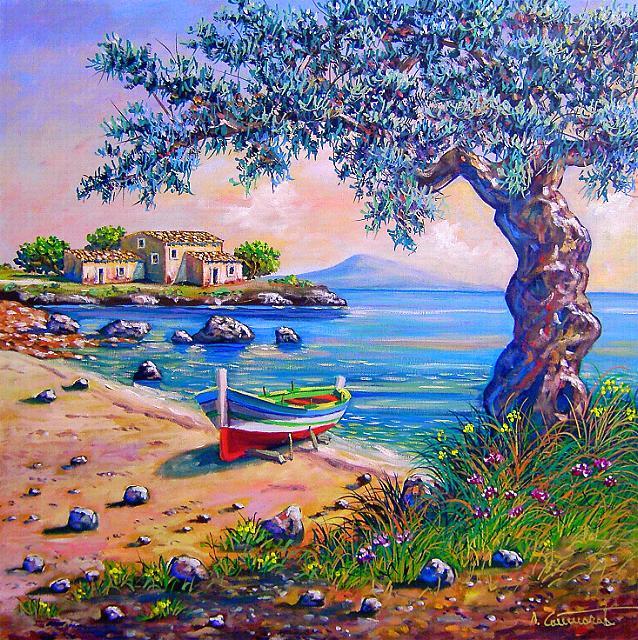 ULIVI DIPINTI, Vendita dipinti,quadri a olio,dipinticammarata